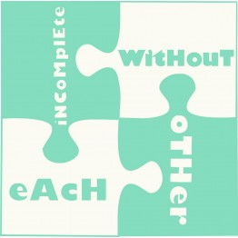 Incomplete without each other- scarf
