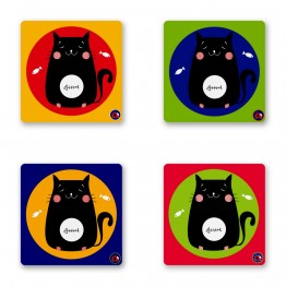 KITTY COASTER SET OF 4
