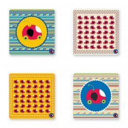 CHERRIEAUTO COASTER SET OF 4