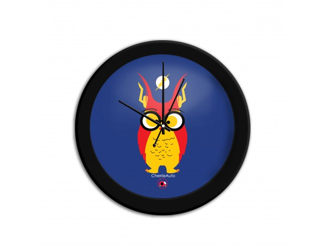 Flashy Owl Wall Clock