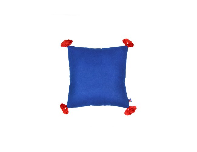 Solid-Blue-Red Cushion