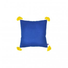 Solid-Blue-Yellow Cushion