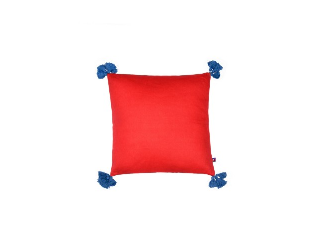 Solid-Red-Blue Cushion