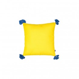Solid-Yellow-Blue Cushion