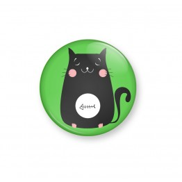 KITTY FISH- Green - Badge