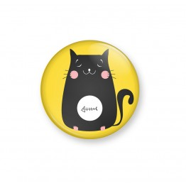 KITTY FISH- Yellow - Badge