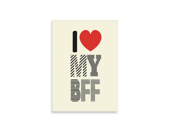 I Love My BFF notepad